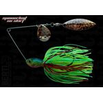 Spinnerbait cu skirt siliconic si doua palete (Colorado 2 + Salcie 2) 11gr Fire Tiger