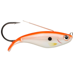 Weedless Shad WSD08 Fluorescent Red Pearl