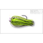 Skirt Jig 4/0 5gr Alb/Negru-Chartreuse