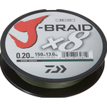 J-Braid X8 150m 0.16mm/9kg-20lb Dark Green
