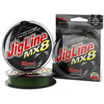 JigLine MX8 125m 15lb 0.12mm/7kg Moss Green