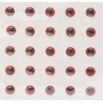Ochi 3D Autoadeziv 6.5mm (25 buc/plic) Red