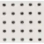 Ochi 3D Autoadeziv 6.5mm (25 buc/plic) Silver