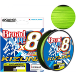 Owner Kizuna X8 Broad 135m 0.10mm/4.10kg Chartreuse