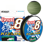 Owner Kizuna X8 Broad 135m 0.10mm-0.13mm Green in the Dark