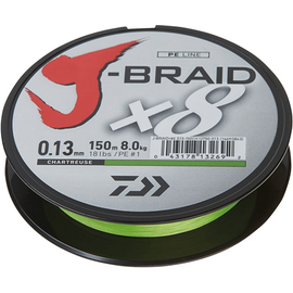 J-Braid X8 150m 0.06mm-0.28mm Chartreuse, Varianta: J-Braid X8 150m 0.18mm/12kg-26.5lb Chartreuse