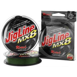 JigLine MX8 125m 14lb 0.10mm/6kg Moss Green