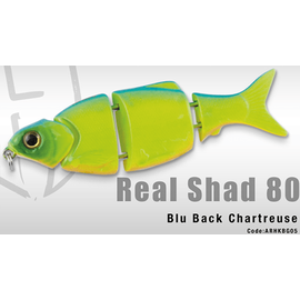Real Shad 80S 8cm/10gr, Varianta: Real Shad 80S 8cm/10gr Blue Back Chartreuse