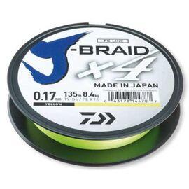J-Braid X4 135m 0.10mm-0.19mm Yellow, Varianta: J-Braid X4 135m 0.17mm/8.4kg-19lb Yellow