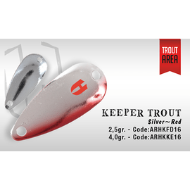 Keeper Trout Single Hook 3cm/2.5gr, Varianta: Keeper Trout Single Hook 3cm/2.5gr Silver/Red