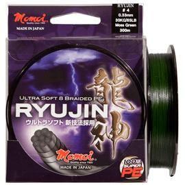 Ryujin PE 8 Braided 300m 65lb/0.33mm-75lb/0.37mm, Varianta: Ryujin PE 8 Braided 300m 65lb 0.33mm/30kg Moss Green