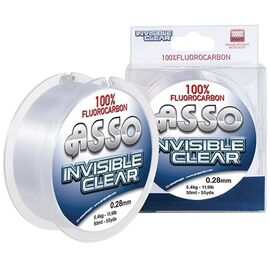 Fir ASSO Fluorocarbon Invisible Clear 50m 0.21mm/3.40kg