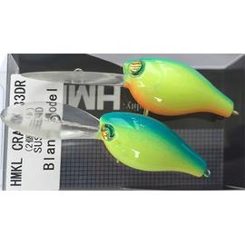 Crank 33DR 3.3cm/3.3gr Custom Painted (1buc/pac), Varianta: Blue Back Chartreuse