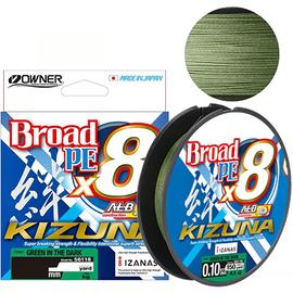 Owner Kizuna X8 Broad 135m 0.10mm-0.19mm Green in the Dark, Varianta: Owner Kizuna X8 Broad 135m 0.10mm/9lb/4.10kg Green in the Dark