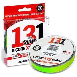 131 G-Core Braid x13 150m 0.10mm-0.20mm Neon Chartreuse, Varianta: 131 G-Core Braid x13 150m 0.148mm/18lb/8.10kg Neon Chartreuse