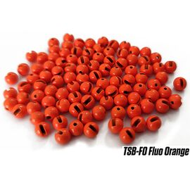 Tungsten Slotted Beads 3.8mm (10buc/plic), Varianta: Tungsten Slotted Beads 3.8mm (10buc/plic) Fluo Orange