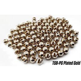 Tungsten Slotted Beads 3.8mm (10buc/plic), Varianta: Tungsten Slotted Beads 3.8mm (10buc/plic) Plated Gold